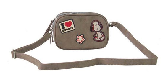 Bolsa Feminina 2 Em 1 Pochete Ou Transversal Snoopy Sp1901