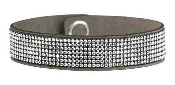 Bracelete Swarovski Chic Glamour - Cor Marrom