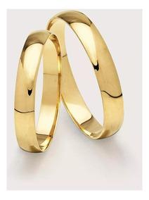 Alianças Casamento Ouro 18k 4mm 3,20gr Preço De Fábrica