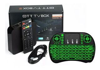 Smart Tv Box Android 7.1 Tv Mini Pc Full Hd Hdmi Teclado Iluminado