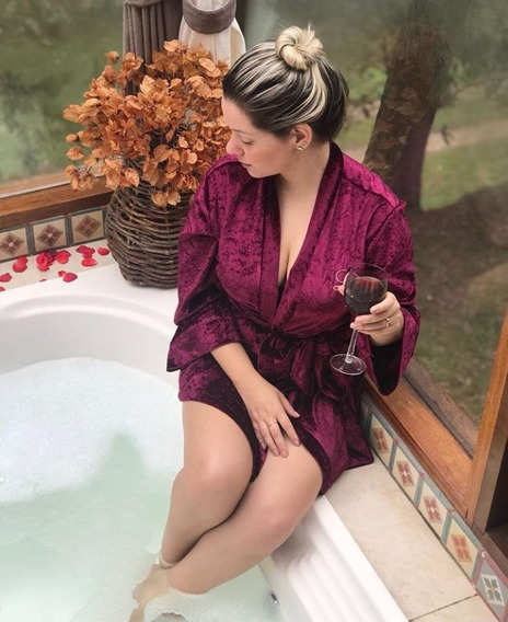 Levantadora Kimono Bata Personalizada Novia Quinceaños Spa