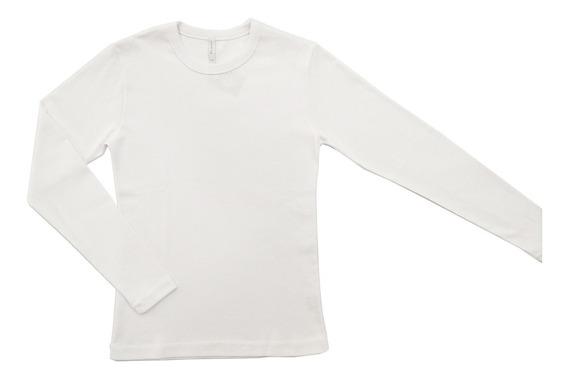 Camiseta / Remera De Mujer En Puro Algodón Cuello Redondo