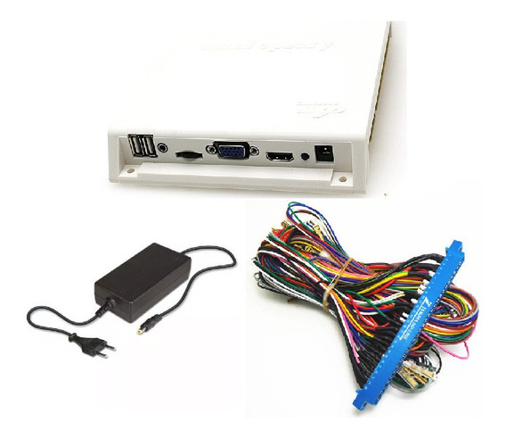 Pandora Box 9s 3d 1660 Jogos + Fonte + Chicote Jamma 5s 6 9d