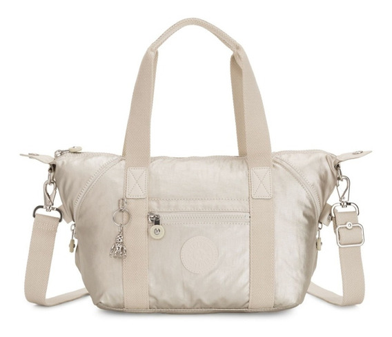 Bolsa Tiracolo Kipling Art Mini Cloud Metal Metalizada