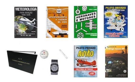 Kit De Livro Piloto Privado Aeroclube De São Paulo(diamante)