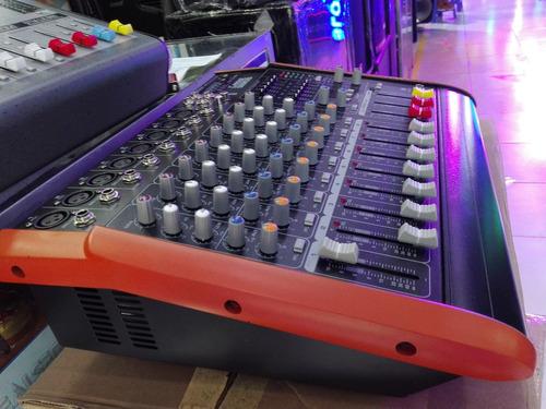 Mescladora Amplificador De 8 Mescladora Usb Bluetooth Efect