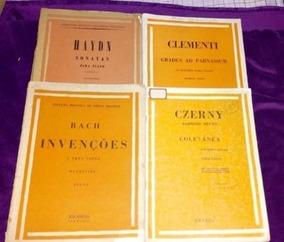 Piano (czerny, Bach Invenções, Haydn, Clementi Gradus)
