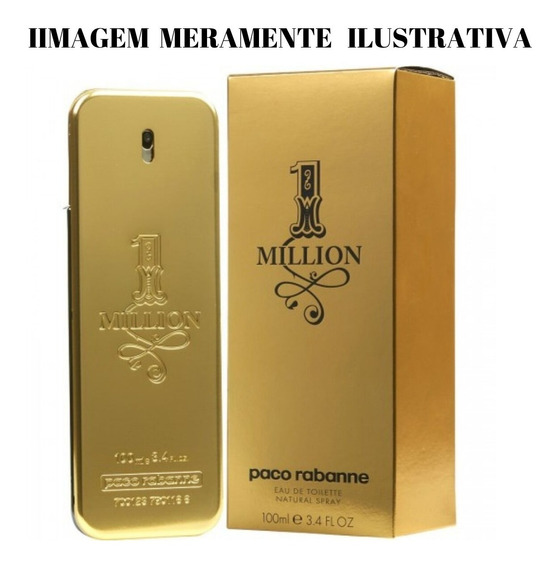 Perfume Masculino Black Million Inspirado No One Million Pacco Rabanne ((original Mais Global))