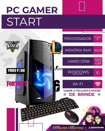 Imagem 1 de 2 de Pc Cpu Gamer Cpu I5 6° G /8gb/ 500gb/wifi/free Fire/ Gta V