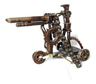 Escultura Reciclaje Artillero Varios Modelos