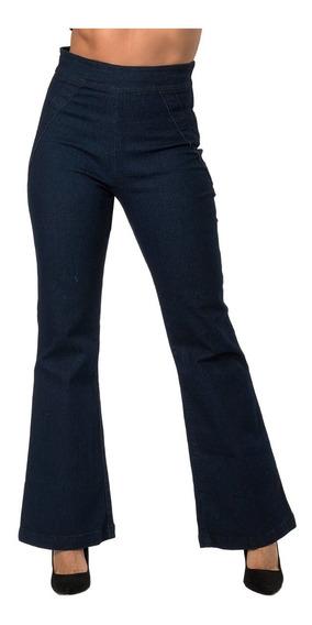 Pantalones Mezclilla Dama Jeans Mujer Acampanados Moda