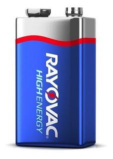 Blister X1 Bateria 9v Rayovac Alcalina Energy Más Duración