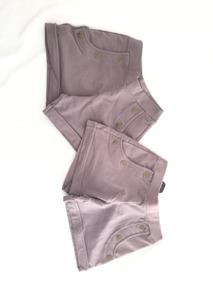 Kit 2 Shorts Na Cor Marrom Claro
