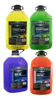 Kit 4 Aromatizantes Para Carro Deixar Como Novo 5l - Vonixx