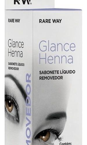 Sabonete Liquido Removedor De Henna 30ml Glance Rare Way