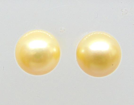 Brinco De Pérolas Naturais 8,5mm Em Ouro 18k - Happygold