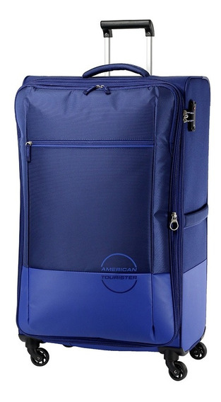 Valija Semi Rigida Instant Azul Grande American Tourister