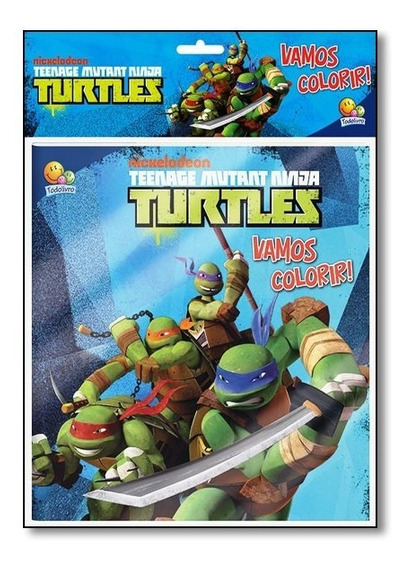 Livro - Teenage Mutant Ninja Turtle - Coleção Vamos Colorir!