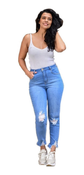 Calça Jeans Mom Destroyed Feminina Cambos