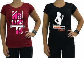 2 Babylook Casual Camiseta Feminina Blusa Blusinha Camisa
