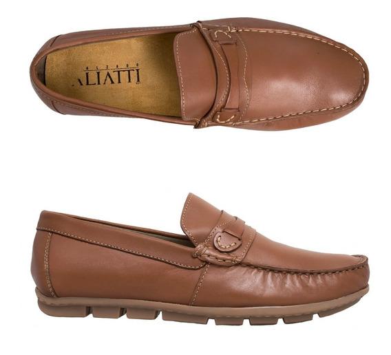 Zapato Hombre F.nebuloni Casual Tipo Mocasín Color Miel