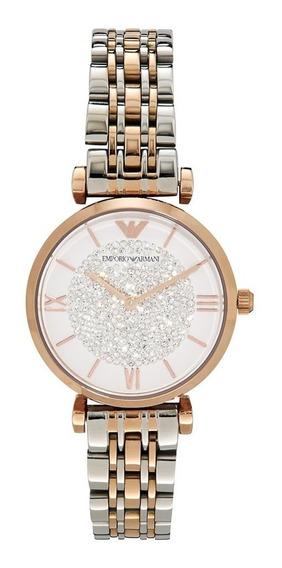 Relógio Emporio Armani Ar1926 Feminino Cristal Original