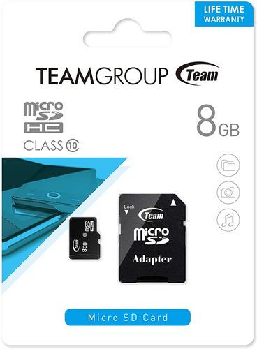 Imagen 1 de 7 de Memoria Micro Sd Teamgroup 8 Gb Clase 10