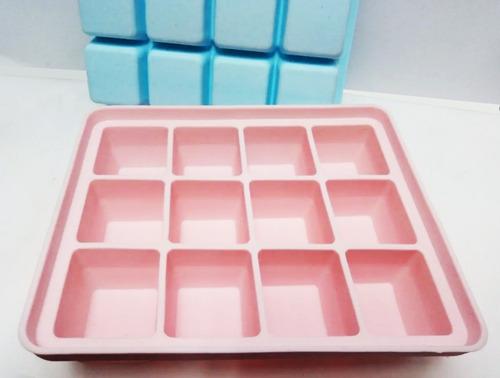 Molde De Cubos X 12 En Silicona De 3 Cm Chocolate Jabon Etc.