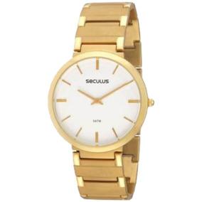 Relógio Masculino Dourado Seculus Slim 24214gpseda1