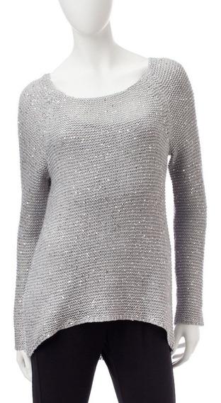 Sweaters Signature I Studio Gris Decorado Dama Talla S /c5