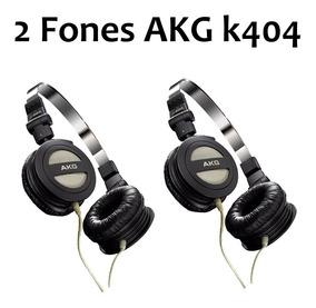 Kit 2 (dois) Fone Akg K404 Dobrável Supra Auricular Original