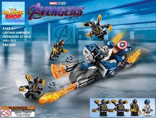 Avengers Endgame Moto Capitán América Tipo Lego / End Game