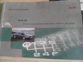 Manual Proprietário Audi A8 2000 Completíssimo Raro