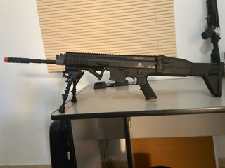 Rifle De Airsoft Elétrico Cybergun Fn Herstal Scar-l Dmr