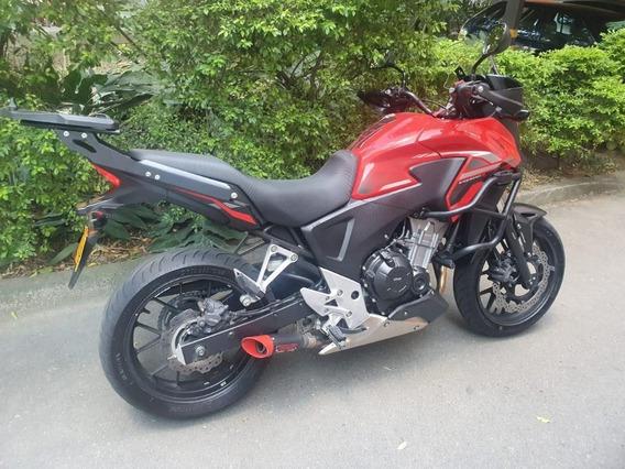 Honda Cb500x Roja Con Protecciones