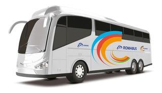 Ônibus Roma Bus Executive - Branco - 48cm - Roma Brinquedos