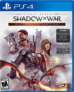 Shadow Of War Definitive Edition Para Ps4 (en D3 Gamers)