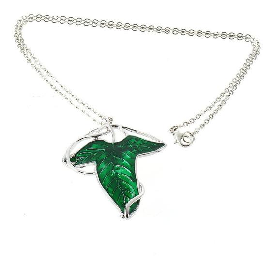 El Señor De Los Anillos Elfos Hoja Verde Broche Colgante Con