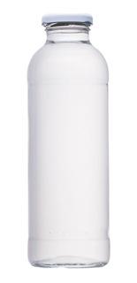 Botellas De Vidrio 475cc Con Tapas Blancas X Bandeja De 42un