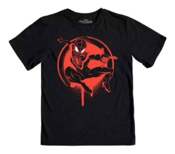 Playera Mascara De Latex Ultimate Spider-man Mlmv Niño