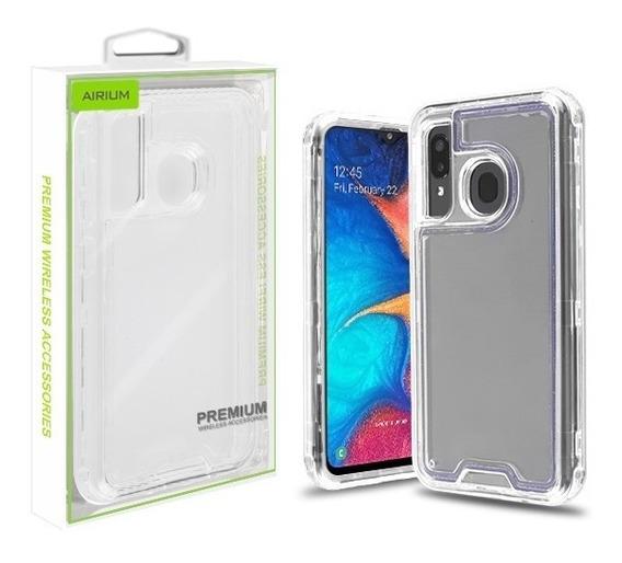 Samsung Galaxy A20 Excelente Funda Uso Rudo Transparente