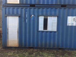 Container Escritorio Revestido Com W. C. Marítimo 20 Hc
