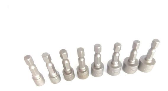Kit Soquete Canhão Parafusadeira N° 6,7,8,9,10,11,12,13mm