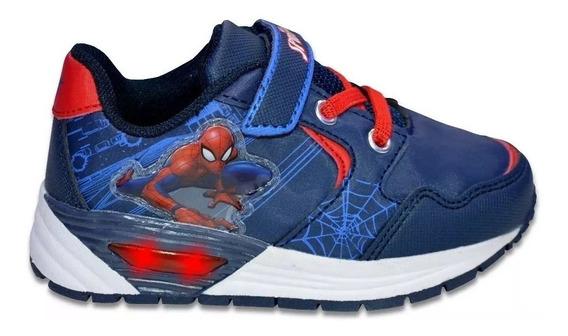 Zapatillas Spiderman Hombre Araña Baby Luces Fty Calzados