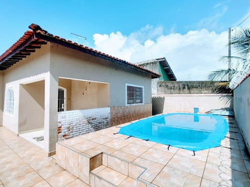 Casa Na Praia, Com Piscina Somente R$270mil  Utilize Seu Fgts Como Parte De Entrada Whatsapp (13) 98174-2222 - Ca0760