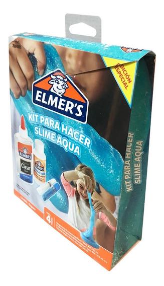 Kit Para Hacer Slime Aqua Elmer