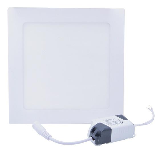Kit 3 Plafon Embutir 12w Led Quadrado 6500k Branco Frio Iluminação Residencial Luz Branca Luminaria Sala Swissport