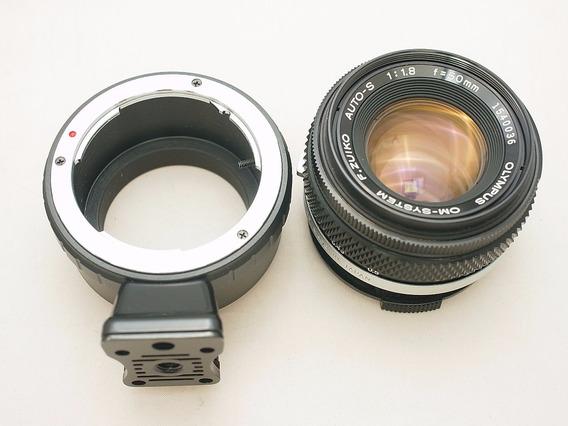 Adaptador Olympus Om - Canon Ef-m, Eos M, M3, M50 Mirrorless