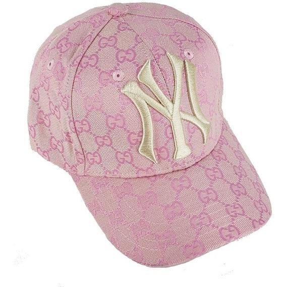 Gorra Gucci Con Detalle De Ny Yankees Rosa