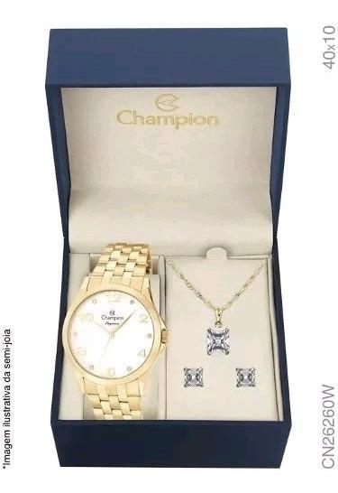 Relógio Feminino Dourado Champion Original Cod9
